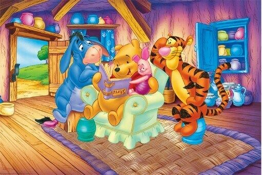 Winnie The Pooh Poster House Gathering Rare New Ebay