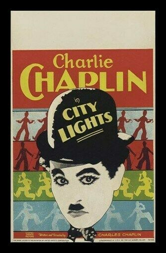 CITY LIGHTS MOVIE POSTER - CHARLIE CHAPLIN RARE VINTAGE | eBay