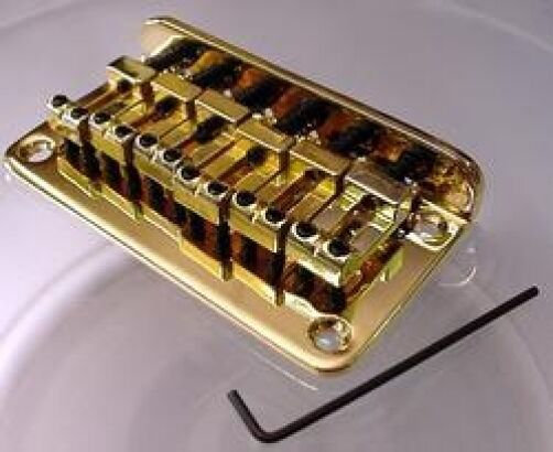 replacement hardtail electric guitar bridge gold ebay. Black Bedroom Furniture Sets. Home Design Ideas