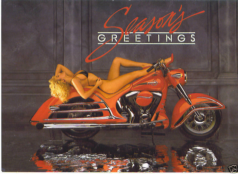 Motorcycle Christmas Greeting Cards with Harley Davidson looking Graphics | eBay