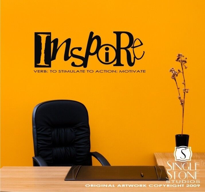 Definition Of Wall Decoration : Inspire definition vinyl wall word decal sticker art