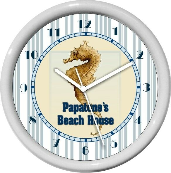 Sea Horse House Wall Clock Beach House Decor Gift Ebay