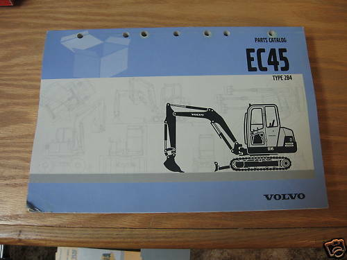 volvo ec45 mini excavator parts catalog 284 ebay. Black Bedroom Furniture Sets. Home Design Ideas