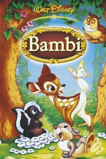 DISNEY BAMBI MOVIE POSTER - FAMOUS CUTE PRINT - 24X36 | eBay