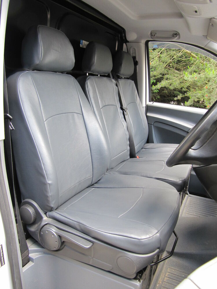 mercedes vito van custom made car seat covers plain no leather stitching or logo ebay. Black Bedroom Furniture Sets. Home Design Ideas