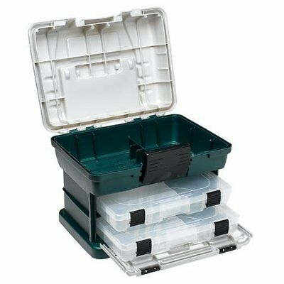 New plano 2 by rack system 1362 size fishing tackle box ebay for Plano fishing boxes