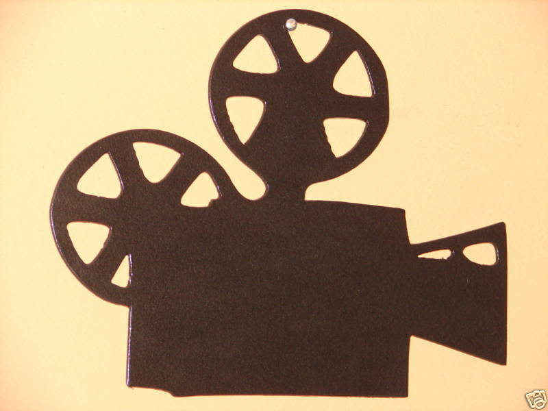 Home Theater Decor Metal Wall Art ~ Home theater metal wall art decor movie film projector ebay