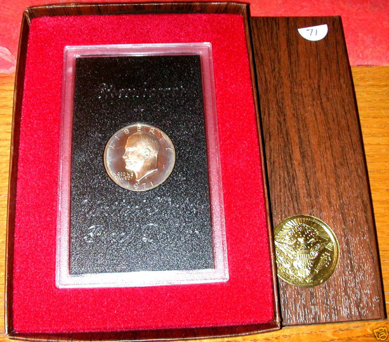 1971 S Brown Box 40 Silver Proof Eisenhower Dollar Ebay
