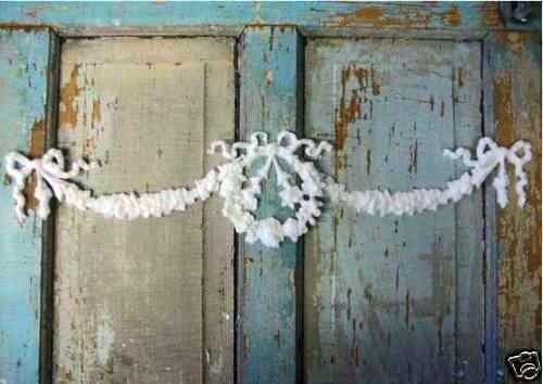 Carved swag and wreath applique decor laundry mudroom