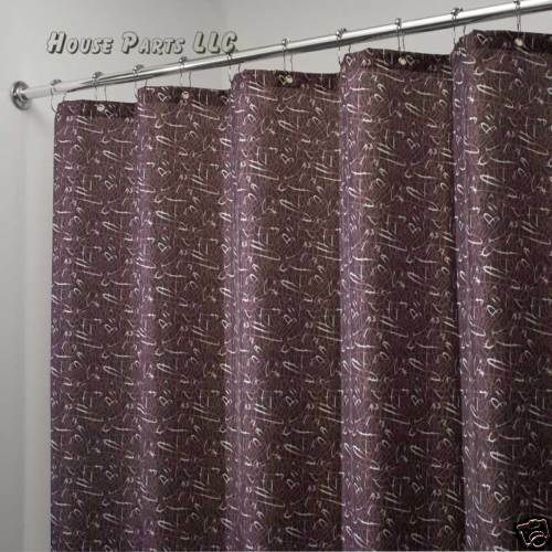 Interdesign Cloth Shower Curtain Scribbles Espresso