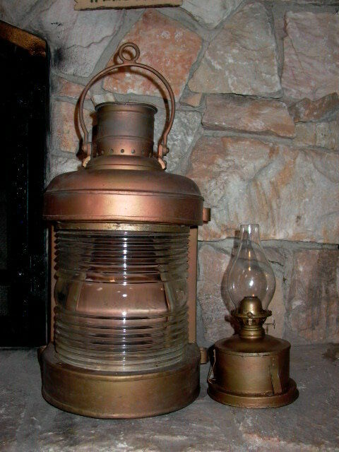 Antique Nautical Maritime Boat Ship Oil Lantern Lamp Ebay