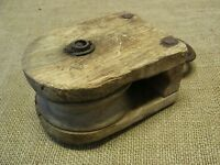 Vintage Wood & Iron Farm Pulley Antique Old Tools Tool