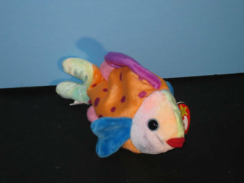 Beanie babies lips the fish new with tag ebay for Fish beanie baby
