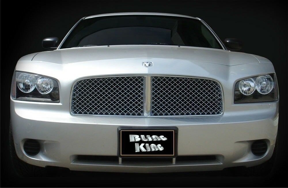 06 2010 dodge charger chrome mesh grille bentley grill. Black Bedroom Furniture Sets. Home Design Ideas