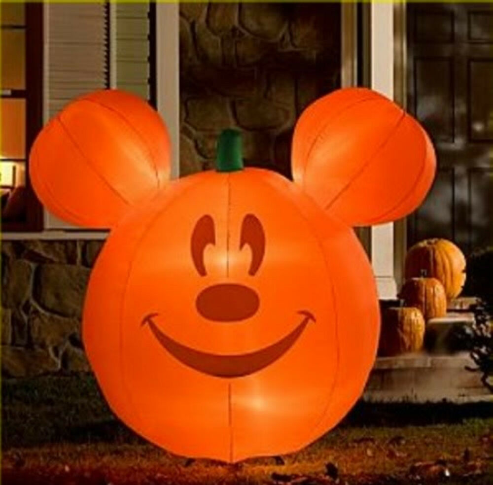 Disney Pumpkin Mickey Mouse Airblown Inflatable Lawn Décor ...
