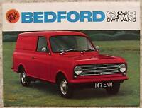 BEDFORD 6 & 8 CWT Vans Sales Brochure Aug 1964 #B1066