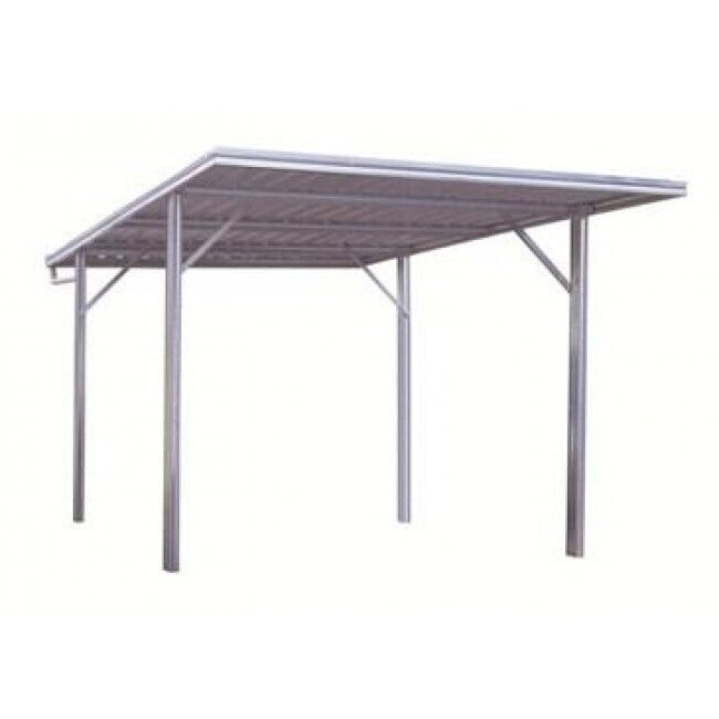 spanbilt yardpro x flat roof single zinc carport ebay. Black Bedroom Furniture Sets. Home Design Ideas