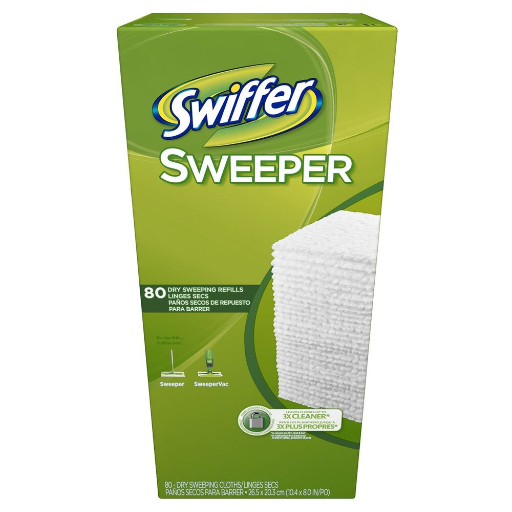 Swiffer Sweeper Dry Refill 80 Ct Duster Sweeping Cloth Mop