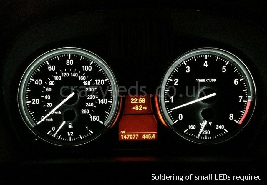 Bmw E90 3 Series Smd Led Speedometer Conversion Kit Ebay