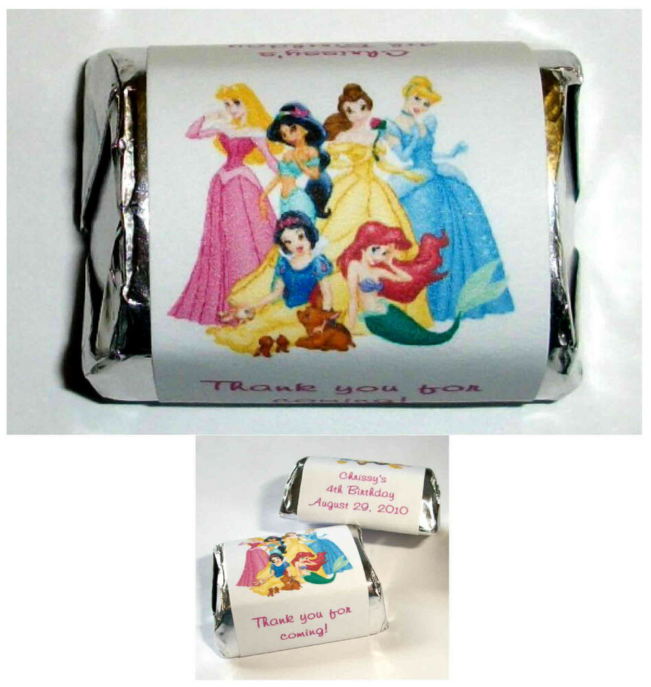 18th Birthday Birthday Party Favor Gumball Candy: 60 DISNEY PRINCESS BIRTHDAY PARTY FAVORS CANDY WRAPPERS