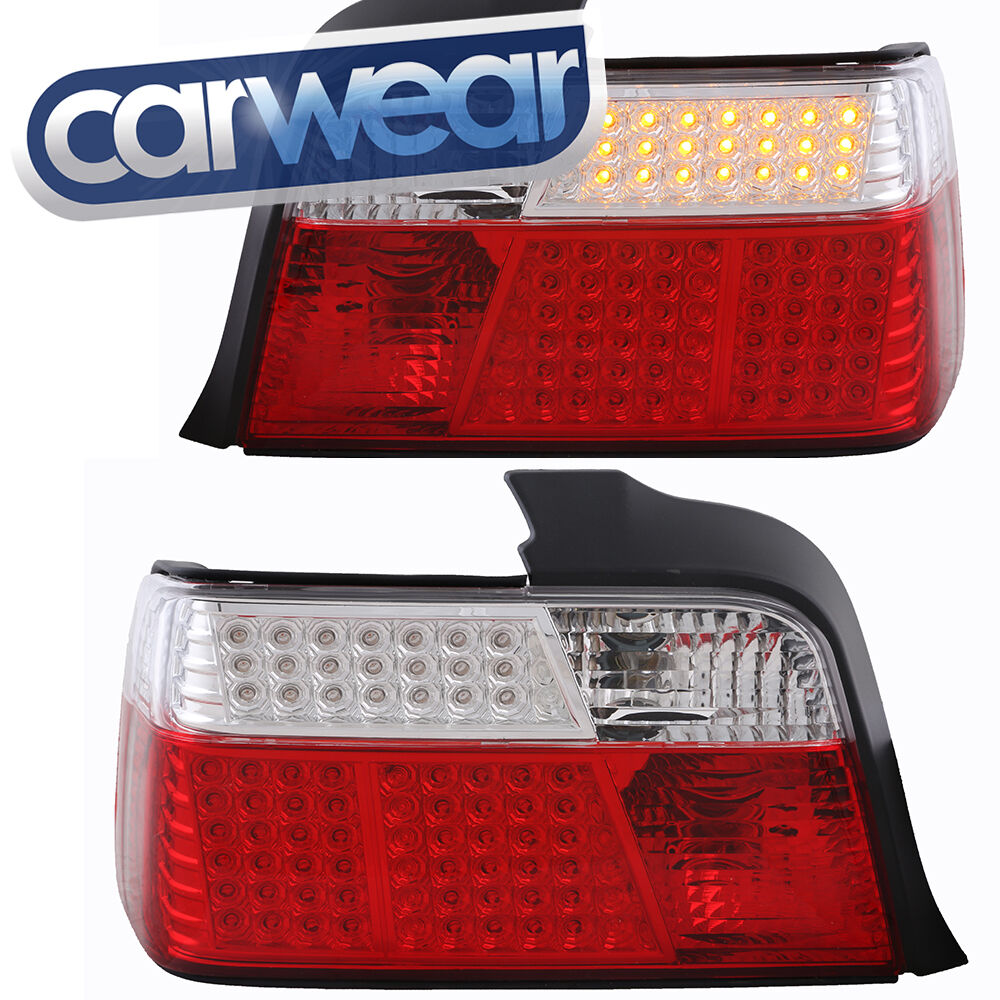 bmw e36 3 series sedan 4dr clear red led tail light 318i. Black Bedroom Furniture Sets. Home Design Ideas