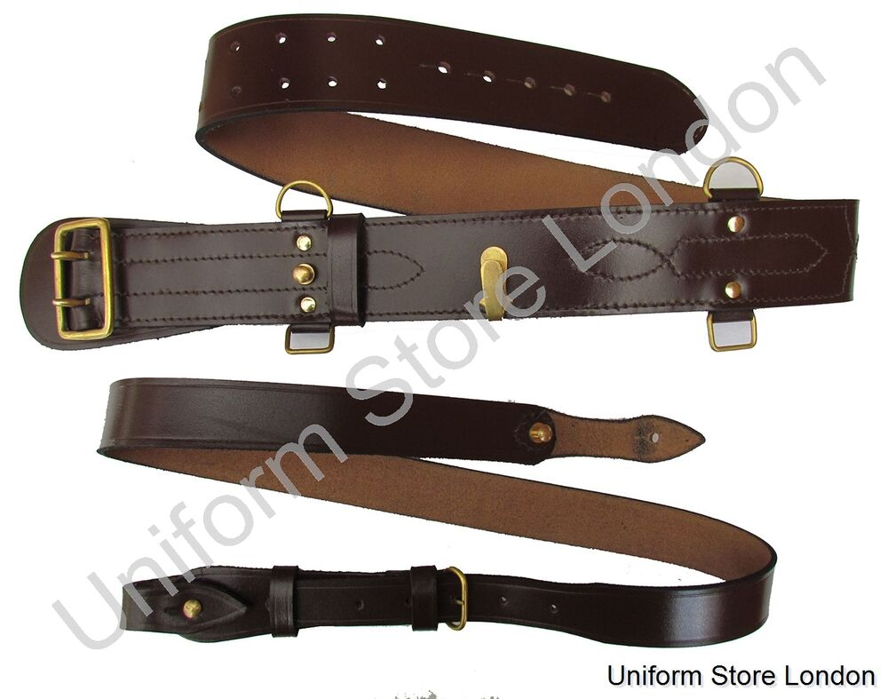 sam browne belt sam brown shoulder brown leather