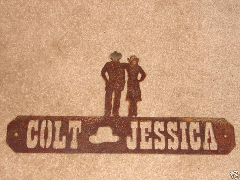 Western wall plaque cowboy sign personalized home decor ebay for Personalized home decor
