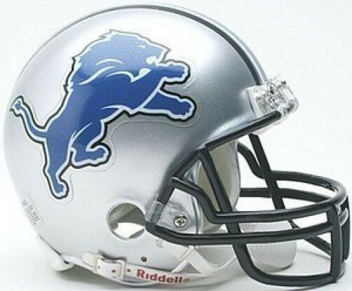 nfl helmet lions helmets football mini riddell detroit printable replica team template templates decals coloring pages sports lion mask face