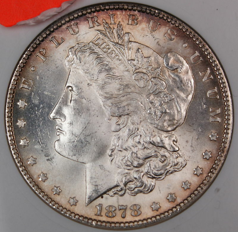 1878 Morgan Silver Dollar Coin Anacs Ms 64 7tf Vam Ebay