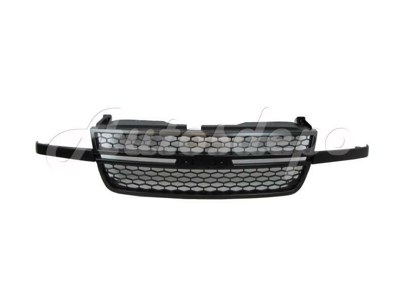 for 2006 07 silverado 1500 05 07 silverado 2500 3500 ss model grille all black ebay. Black Bedroom Furniture Sets. Home Design Ideas