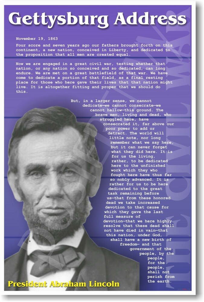 the gettysburg address summary