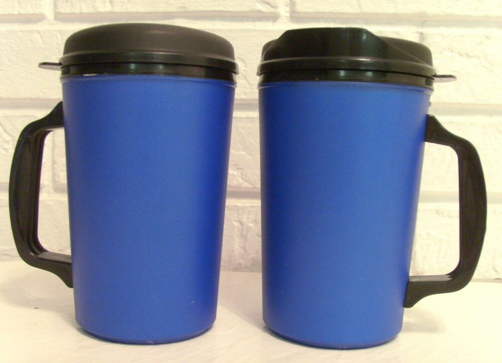 20 oz thermo serv classic insulated travel coffee or cold drink mugs ebay. Black Bedroom Furniture Sets. Home Design Ideas