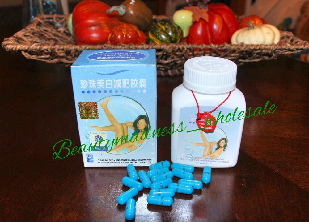 60 PEARL WHITE SLIMMING PILLS LOSE WEIGHT BURN FAT PILLS ...