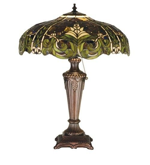 austrian tiffany style lamp german european green light. Black Bedroom Furniture Sets. Home Design Ideas