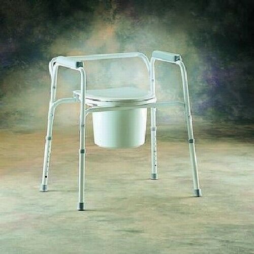 Invacare Allinone Bedside Bedroom Travel Commode Chair Ebay