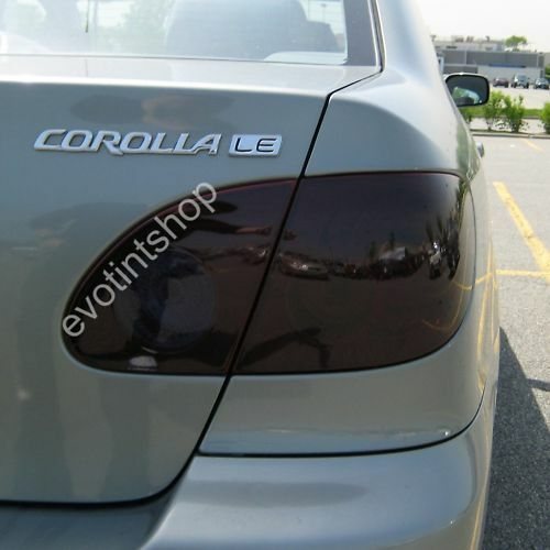 03 08 Corolla Smoke Tail Light Tint Cover Black Out Kit Ebay