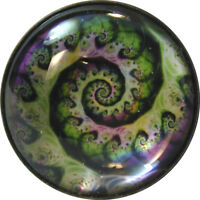 """1"""" Crystal Dome Button Mystical Spiral #7 -- Gorgeous! FREE US SHIPPING"""