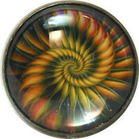 """1"""" Crystal Dome Button Mystical Spiral #17 -- Gorgeous! FREE US SHIPPING"""