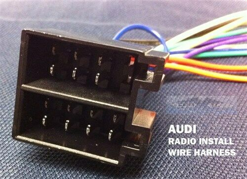How To Connect Radio Wiring Harness : Audi radio wire harness stereo connect wiring au ebay