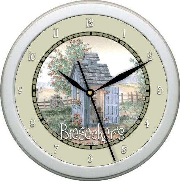 Personalized Garden Bathroom Wall Clock Gift