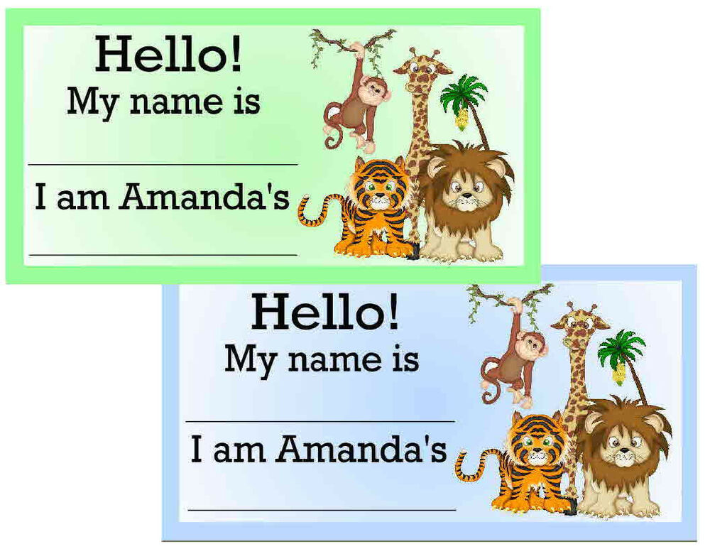 jungle baby shower name tags party favors ebay