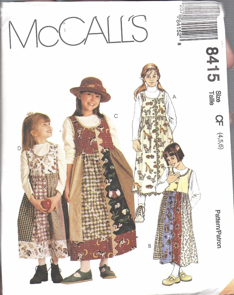 8415 UNCUT McCalls SEWING Pattern Girls Front Button ...