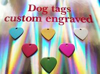 Dog and cat tags for pets with free engraving uk