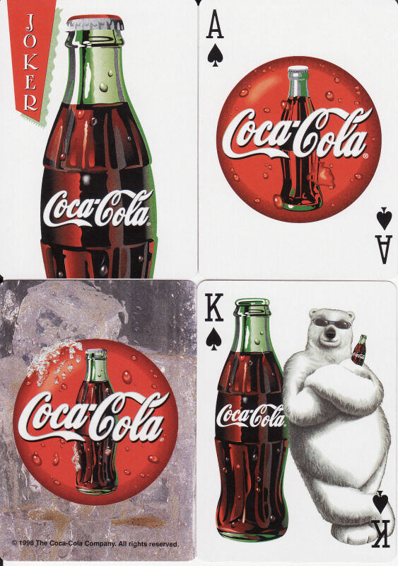 new uspc coca cola coke polar bear playing cards decks ebay. Black Bedroom Furniture Sets. Home Design Ideas