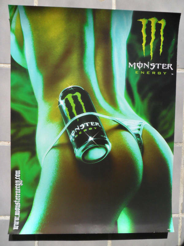 Sexy Girl Dorm Poster Monster Energy Drink Thong  Ebay-7996