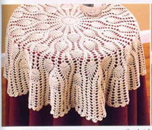 Round Crochet Tablecloth Table Topper 36 Quot Ebay