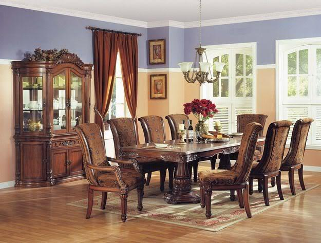 estelle formal dining room furniture  piece set traditional upholstered chairs ebay