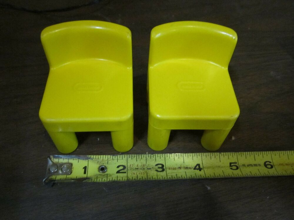 Little Tikes House Replacement Parts : Little tikes dollhouse size yellow kitchen chairs doll