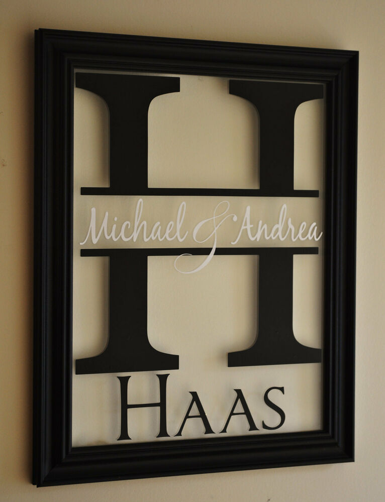 Personalized Family Name Picture Frame Sign 10x13 Ebay