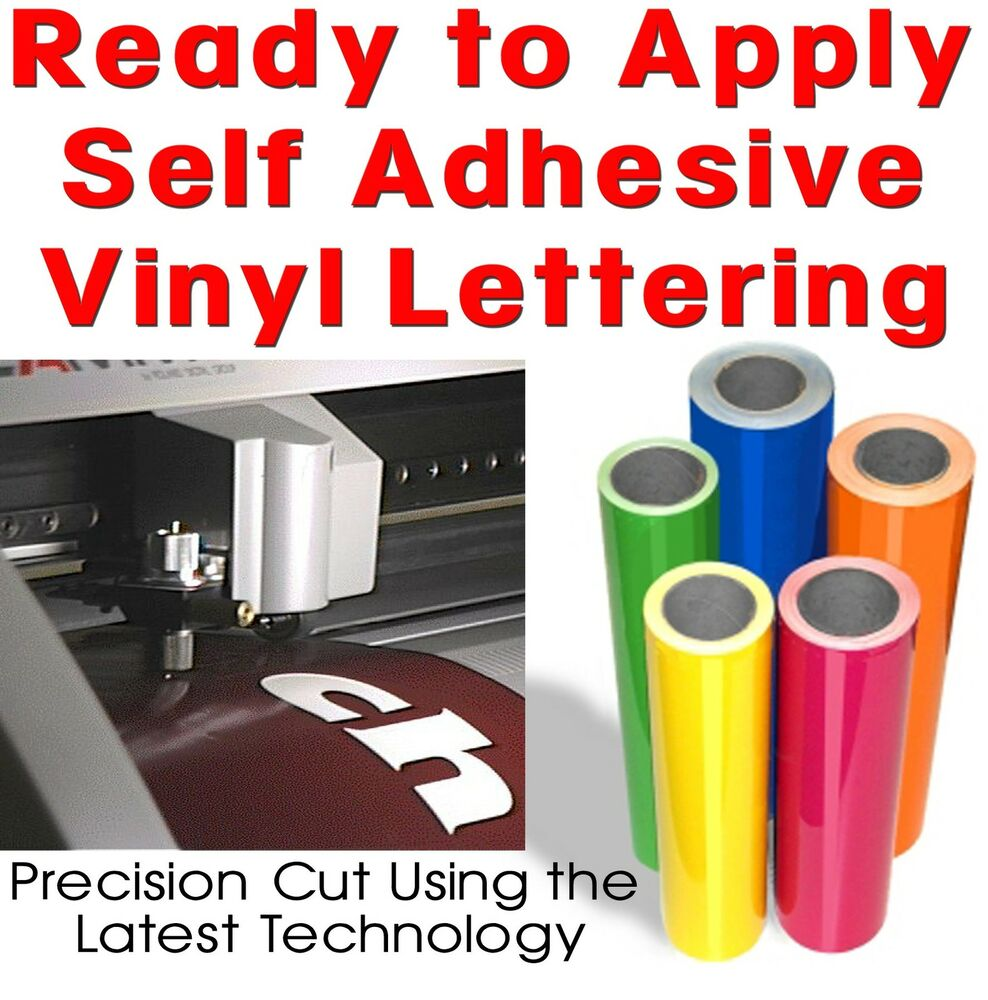 adhesive vinyl lettering words letters signwriting ebay With where to buy vinyl letters for signs